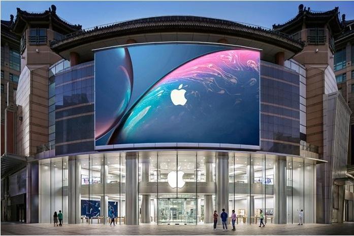 苹果宣布关闭全球门市(大中华地区除外),外界担心其营运状况是否会受到严重影响,但分析师认为不必担心。图为苹果中国门市,示意图。图:取自苹果中国官网