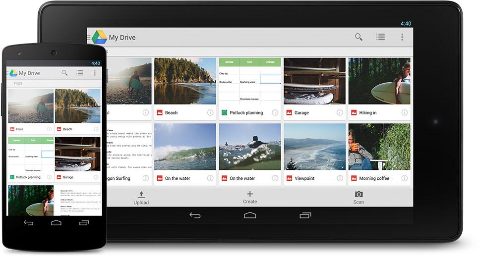 苹果行动装置上的Google云端硬碟APP新增了「隐私保护画面」(Privacy Screen)功能。图为Google云端硬碟。图:取自google官网